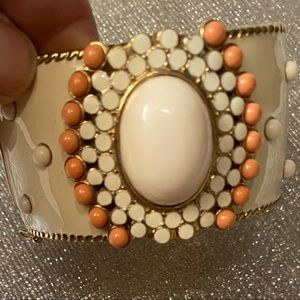 2 for $20 Offwhite and Peach Enameled Bracelet